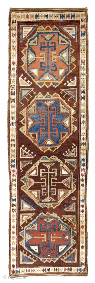 Karapinar Runner, Central Anatolia, late 19th Century. 43x140 inches (110x354 cm)