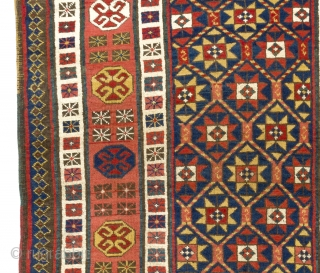 Talish Runner, South East Caucasus, ca late 19th Century.  3.8 x 8 ft (111x240 cm). Please ask for a super high resolution image.