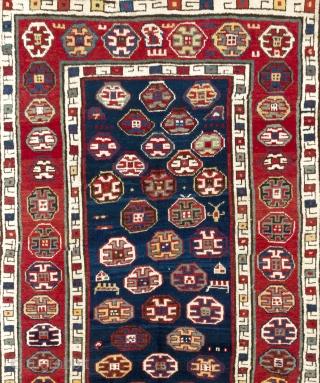 Fantastic Talish Rug, South East Caucasus, 19th Century. 3.8 x 9 Ft (111x264 cm)