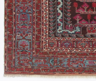 West Anatolian Kula Prayer Rug, ca 1800, 3.8 x 4.1 ft (112x125 cm)