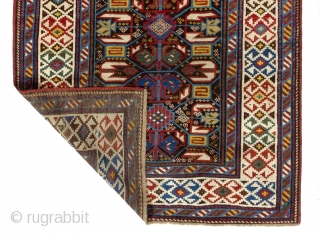 Unusual Caucasian Daghestan Runner in very good condition, 45x114 inches (114x290 cm), 19th Century
