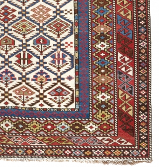 Shirvan Rug, 46x71 inches (116x181 cm). NO repairs or issues whatsoever, all original, untouched.