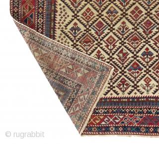 "Shirvan Prayer Rug, 3'10"" x 4'9"" (117x145 cm), ca 1880."
