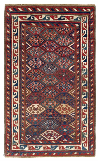 South Caucasian or North West Persian Rug, Kazak?  47x77 inches (119x195 cm), late 19th Century