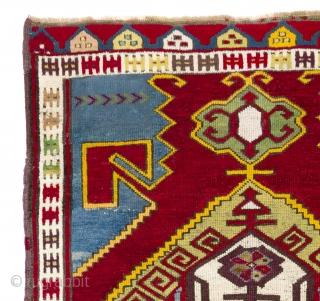 Central Anatolian Karapinar Rug. 4 x 6.3 Ft.   (120x190 cm).