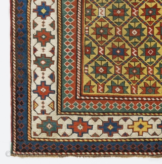 Gendje rug,  Caucasus, Late 19th century, 4.5 x 6.7 Ft  - 135x200 cm