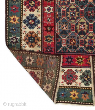 Talish Runner, 4 x 9 Ft  (121x275 cm), ca late 19th Century. Very good condition with even medium pile, all natural dyes,   looks like both ends' guard stripes were professionally  ...
