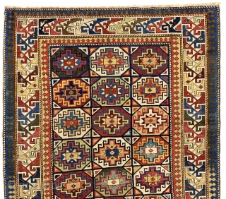 Fine Antique Caucasian Shirvan Rug, 124x277 cm (4.1 x 9.1 Ft). ca 1870