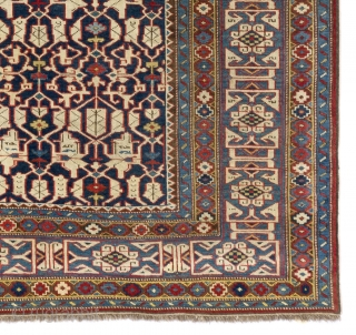 Very Fine Antique Caucasian Kuba Konaghend Rug, Dated 1867 AD, 4.2 x 5.8 Ft (127x174 cm). Near perfect condition, no issues. Probably the best of this type we have seen.  Please  ...
