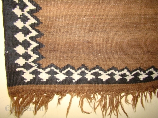"Unusual Varamin Kilim Prayer Rug with variegated Camel field. 34""X42""plus the 10""X13"" ""Head"". 87X107 Cm plus 25X32 Cm...."