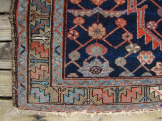 "Small NW Persian rug 37""X57""...95X145 Cm. Generally good short pile."
