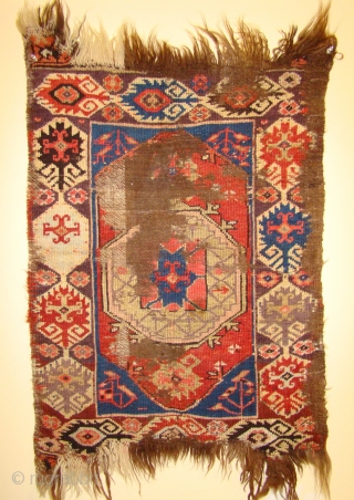 """Early Central Anatolian Karapinar Yastik. 22""""X 30""""/36"""""""