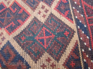 "Large Baluch rug with nice Kilim ends. 4'X6'6"" .... 122X198 Cm."
