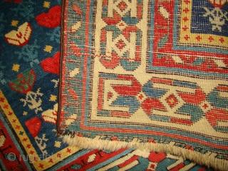 "Caucasian Prayer rug. 34""X50"" ....87X127 Cm."