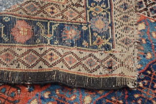 "Bakhshayesh Kelleh Carpet with good pile and some small holes as shown. Wool foundation. Size: 5'7""X10'6"" OR 170X320 cm"