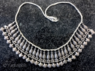 a very rare type of antique silver beaded Central Asian necklace made either by Uzbeks or the people of Nuristan region of Afghanistan , dating to the 19th century. This rare necklace  ...
