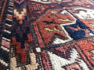 A Khorassan Belouch rug with silky wool and beautiful field tones. 173 x 85cm.