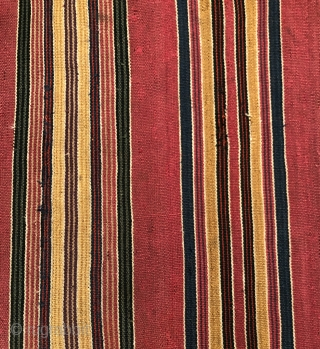 Aymara man's ceremonial poncho (ponchito). Before 1850.  Altiplano region of Bolivia. Soulful old piece with very rich color. Additional information and images upon request.  Size: 40 x 45 inches.   ...