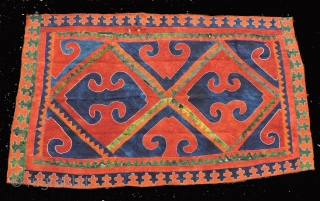 Khirgiz pieced felt. 19th century.  All dyes are natural.  It has beautiful felting that retains a nice patina and texture to the wool.  This piece has been in storage  ...
