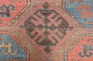 Animal Gul Carpet.  Possibly early 19th century (or before).  Rare and collection worthy, this rug has the supple, floppy handle of an old tribal piece. Although it has the depressed  ...