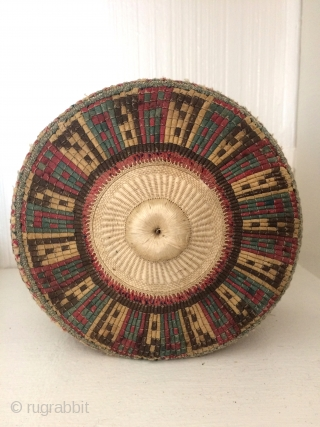 All items in this image are $600 or less.  Seen here are great South Persian baskets with all dyes natural.  Hadj hats finely worked. Very old miniature Tibetan bowls .  ...