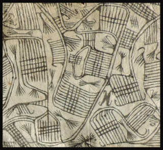 Three very interesting Pygmy bark cloth drawings.  These beaten barkcloth drawings were made by the Mbuti people of the Congo region of Africa.  The Mbuti are among the oldest indigenous  ...