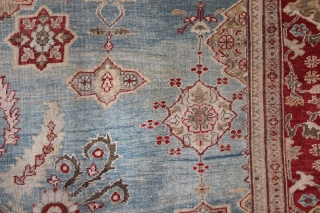 "Ziegler & Co carpet, late 19th century, with sky blue field. 9'8"" x 14'3"""