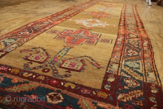 "Mint condition Bakshiash runner. Full, original pile, no repairs. Lovely soft colours. 3'3"" x 10'0"" / 99 x 302cm circa 1920."