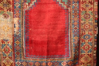 "18th century Mujur prayer rug 6'1"" x 4'4"" / 183 x 132cm"