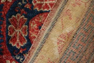 "Superb Kansu carpet, possibly 18th century, in stunning original condition. Minor old restaurations. See Grote-Halsenbalg for similar. 9'7"" x 5'3"""