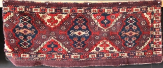 "Pair of 19th century Turkoman torbas, each approximately 14"" x 33"" in good pile but cut on the edges, as seen in the pictures. Symmetrically knotted, wool and cotton wefts,  all  ..."
