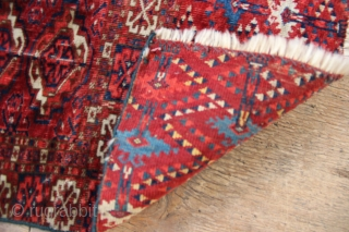Near pair of 19th century Tekke chuvals, very fine and lovely colours, sadly rather fragmented, now on sale.