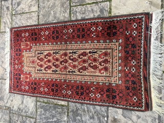"""Early 20th c Balouch prayer with marvellous people. 5,10"""" x 3'0"""""""