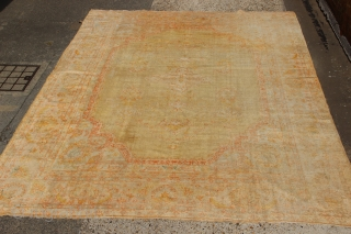 "Perfect decorators antique Angora Oushak 10'3"" x 13'2"" / 312 x 400cm