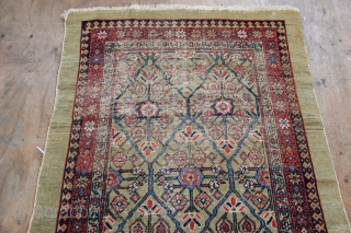 "Worn but very pretty Sarab runner from the late 19th century. Still has a great look, no holes. 3'4"" x 13'8"""