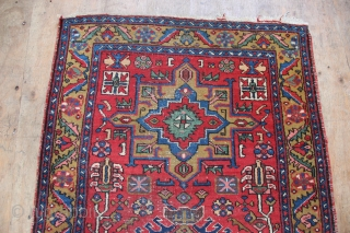 Great value Karadja runner circa 1930/40. A bit low in pile but no holes and sure to last a very long time yet, this decorative Persian runner is being offered at a  ...