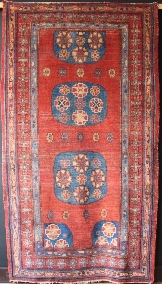 "Early 19th century Khotan rug 4'5"" x 7'10"""