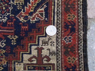 """Salar Khani Baluch bagface, 19th century, 20""""x19"""".  A finely woven bag with exceptional wool and natural colors.  It is hard to capture in photographs and the close up pictures are  ..."""