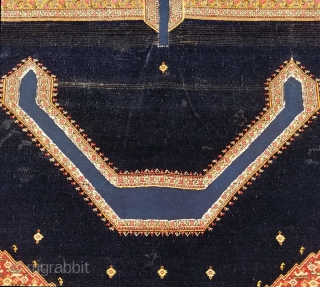Finely woven, antique Senneh saddle cover. Cleaned and expertly conserved by Robert Mann. Missing one guard border, otherwise in excellent condition.