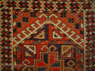 Antique Ersari Kizil Ayak Twin Niche prayer rug, 37 x 49 inches (94 x 124 cm). One of the earlier examples of this rare design. Original side finish, sound foundation, eminent candidate  ...