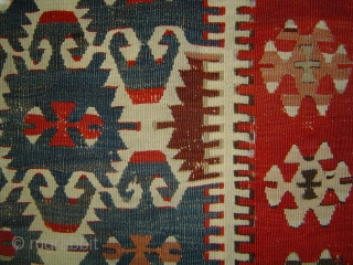 Early Anatolian Elibelinde kilim fragment, 114 x 234 cm. Possibly 18th century. At a reduced price.