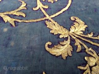 """Ottoman Velvet Fragment, 19th Century, 1' 4"""" x 1' 2"""""""