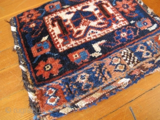 "Kurdish Bag, 9"" x 10"", Circa 1900.  Adorable Kurd bag in very good condition."