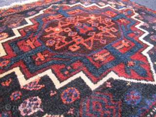 Afshar / Baluch? bagface with Mamluk star design, Late 19th Century, 2' x 2' 7""