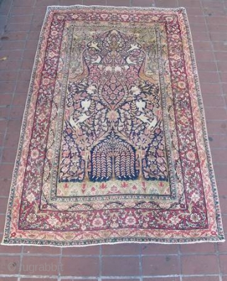 "Beautiful late 19th century Lavar Kirman, 4' 3"" x 6' 8"""