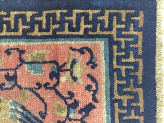 Ningxia party mat, circa 1850 s, size 76 cmx72cm, both sides have a repair