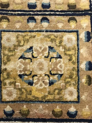 Ningxia temple mat blanket, early 19th century, size 168x60cm, welcome to consult
