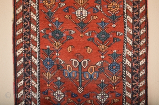 Beautiful Antique Afshar small rug good wool good pile good natural colors no low areas its as found need a little wash... 