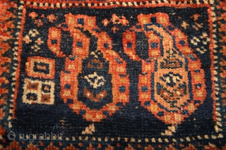 as found Dimutive and Charming  Antique  Afshar chanteh  Size please see the picture in Inches :)