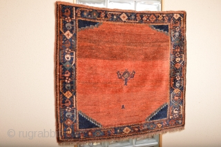 Fabulous Antique Fars Area Sofreh or small rug .